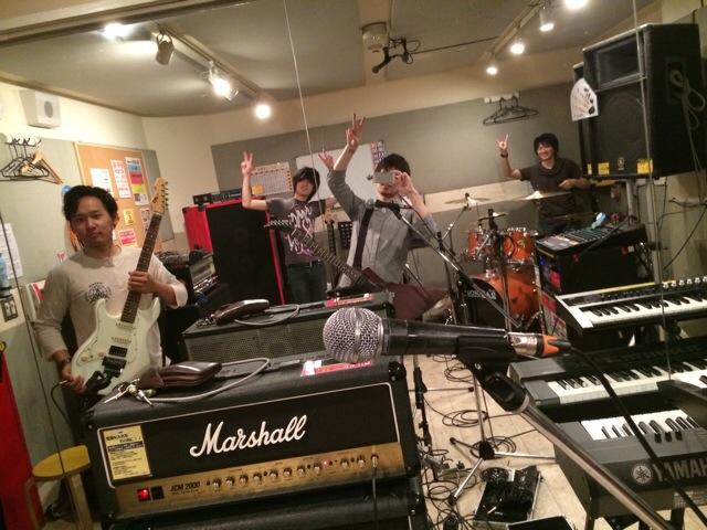 大阪のバンドAOMP in studio246 NAMBA メタル